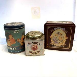 Vintage Hershey's Chocolate Tins Lot of 3